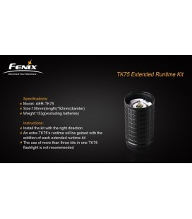 Kit Extensor De Tiempo Para Linternas Fénix Tk75, Tk76 Y Tk61