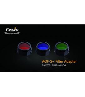 Filtro Azul Para Linternas Led Fénix Uc35, Rc11, Pd35, Pd12 Y Uc40 Ref. AOF-SA