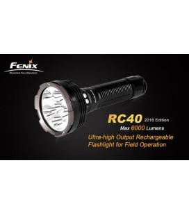 Linterna Led Fénix Rc40 6000 Lumens Y 6 Modos Recargable Corriente Y Coche