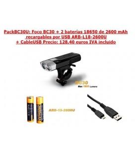 PackBC30U (BC30 + 2 ARB-L18-2600U + 1 CableUSB)