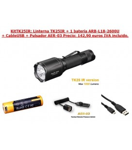 Kit Linterna Fénix TK25IR + ARB-L18-2600U + Cable + AER-03