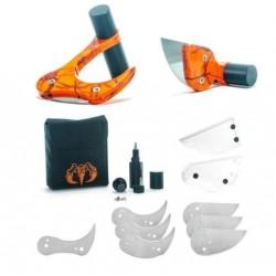 Cuchillo Raptorazor Aluminio BIG Game Skinner & MANO Combo