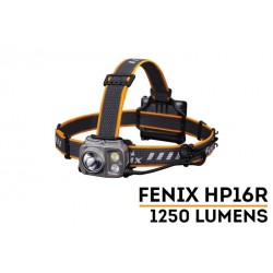 Frontal Fénix HP16R 1250 lúmenes con doble foco (inundación y distancia) y luz blanca y roja