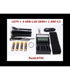Pack LD75C + Cargador ARE-C2 + 4 baterías